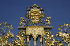 Golden detail of Hampton Court Palace Gates Stock Image