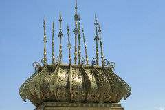 Golden detail mausoleum stock photos