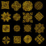 Golden detailed ornament collection Stock Photo