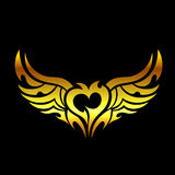 Golden devilish tattoo Royalty Free Stock Photo