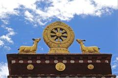 Golden Dharma Wheel Royalty Free Stock Photo