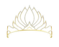 Golden diadem isolated on white background. 3d render image Stock Photography