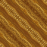 Golden Diagonal Ethnic Seamless Pattern Stock Photo
