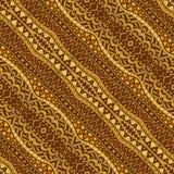 Golden Diagonal Ethnic Seamless Pattern Stock Photo