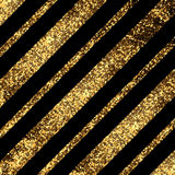 Golden diagonal lines. Elegant background with textured gold glitter foil diagonal lines Stock Image