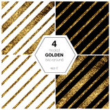 Golden diagonal lines. Elegant background with textured gold glitter foil diagonal lines Royalty Free Stock Images