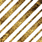 Golden diagonal lines. Elegant background with textured gold glitter foil diagonal lines Stock Photo