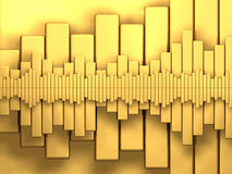 Golden Diagrams Stock Photo