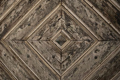 Grey Diamond Pattern wooden Door Detail Background Stock Images