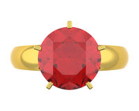 Golden diamond ring Royalty Free Stock Images