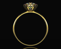 Golden diamond ring Royalty Free Stock Photography