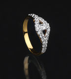 Golden diamond ring Royalty Free Stock Photo