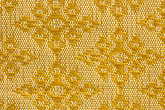 Golden Diamond-Shaped Design Thai Silk Royalty Free Stock Photography