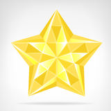 Golden diamond star web element isolated Stock Photography