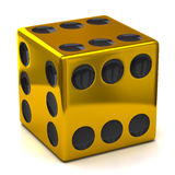 Golden dice Royalty Free Stock Photo