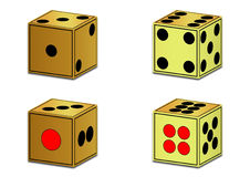 Golden dice Royalty Free Stock Images