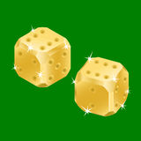 Golden dices Royalty Free Stock Image