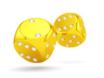 Golden dices Royalty Free Stock Images