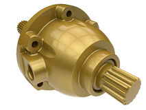 Golden differential gear housing Royalty Free Stock Images