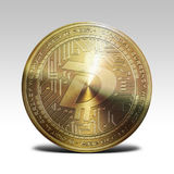 Golden digibyte coin isolated on white background 3d rendering. Illustration Stock Image