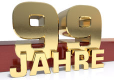 Golden digit ninety nine and the word of the year. Translated fr Stock Images