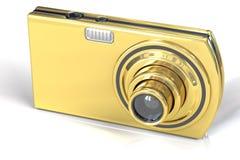 Golden Digital Camera Royalty Free Stock Photo
