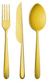 Golden dining set Royalty Free Stock Images