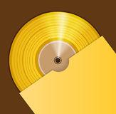 Golden disc Royalty Free Stock Images