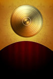 Golden Disc Background Royalty Free Stock Photos