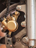 Motorcycle brake,. Stock Image