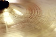 Golden disc hat background. Background, hat, disc drum stock image