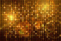 Golden disco background Stock Photos