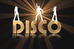 Golden Disco Background Stock Photo