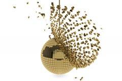 Golden disco ball Royalty Free Stock Photo