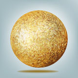 Golden disco ball. EPS 8 Stock Photo