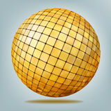Golden disco ball. EPS 8 Stock Photography