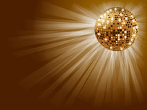 Golden disco ball . Stock Image