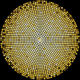 Golden Disco Balls Halftone Pattern Background Stock Photography