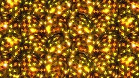 Golden Disco Balls. Video of Golden Disco Balls royalty free illustration