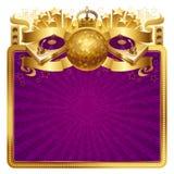 Golden disco illustration Royalty Free Stock Photo