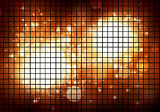 Golden Disco Lights Royalty Free Stock Images