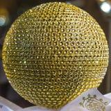 Golden disco mirror ball Royalty Free Stock Photos