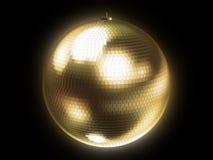 Golden disco sphere Royalty Free Stock Photos