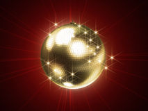 Golden disco sphere royalty free illustration