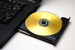 Golden disk Royalty Free Stock Photos