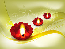 Golden Diwali Card Design Stock Photos
