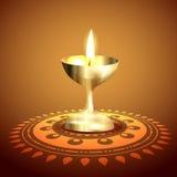 Golden diwali diya Royalty Free Stock Images
