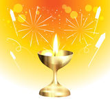 Golden diwali lamp Royalty Free Stock Images