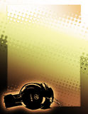 Golden DJ poster background Stock Image