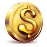 Golden dollar Royalty Free Stock Photo